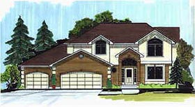Traditional House Plan 70420 Elevation