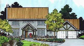 House Plan 70423 | Cottage Style House Plan with 2260 Sq Ft, 4 Bed, 3 Bath, 2 Car Garage Elevation