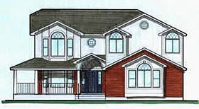 Contemporary House Plan 70424 Elevation
