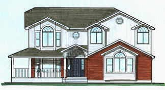 Contemporary House Plan 70424 with 4 Beds, 3 Baths, 2 Car Garage Elevation