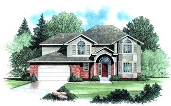Colonial House Plan 70425 Elevation