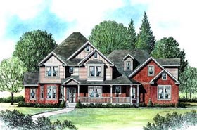 House Plan 70430 | Victorian Style Plan with 2520 Sq Ft, 4 Bedrooms, 3 Bathrooms, 3 Car Garage Elevation