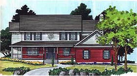 Country House Plan 70432 Elevation