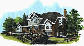 European House Plan 70434 Elevation