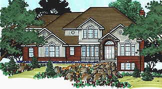 European House Plan 70435 with 4 Beds, 3 Baths, 3 Car Garage Elevation