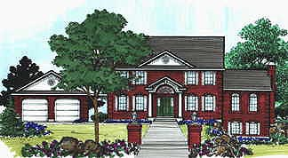 Colonial Elevation of Plan 70436