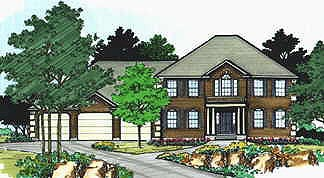 Colonial House Plan 70437 Elevation