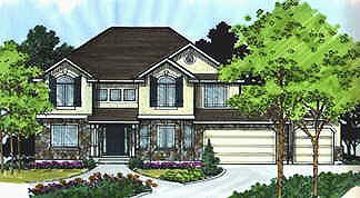 Traditional House Plan 70439 Elevation