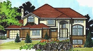 European House Plan 70440 with 4 Beds, 4 Baths, 3 Car Garage Elevation