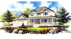 Country House Plan 70441 Elevation