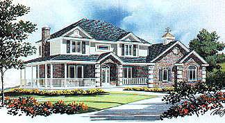 Country House Plan 70442 with 3 Beds, 3 Baths, 3 Car Garage Elevation