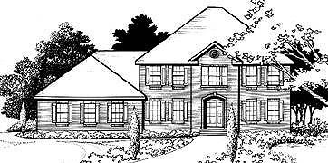 House Plan 70447 Elevation