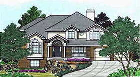 House Plan 70448 | Traditional Style Plan with 3246 Sq Ft, 4 Bedrooms, 3 Bathrooms, 2 Car Garage Elevation