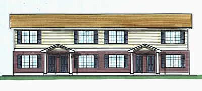 Colonial Multi-Family Plan 70452 Elevation