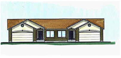 Traditional Multi-Family Plan 70460 Elevation