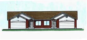 Traditional Multi-Family Plan 70461 Elevation
