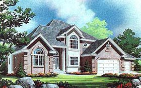 European House Plan 70463 Elevation