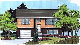 Retro , Traditional House Plan 70465 with 2 Beds, 1 Baths, 1 Car Garage Elevation