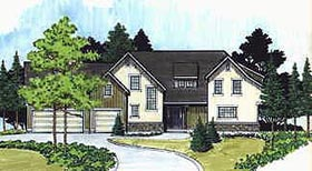 Traditional House Plan 70467 Elevation