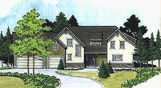 Traditional House Plan 70467 with 3 Beds, 3 Baths, 3 Car Garage Elevation
