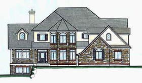 Victorian House Plan 70471 with 2 Beds, 3 Baths, 3 Car Garage Elevation