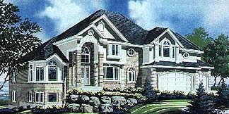 European House Plan 70473 Elevation