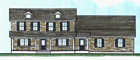 Country House Plan 70474 Elevation
