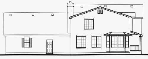 Country House Plan 70474 Rear Elevation
