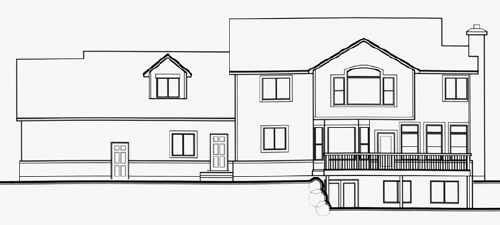 Country House Plan 70475 Rear Elevation