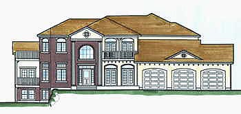 Colonial House Plan 70476 Elevation