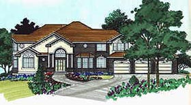 Colonial House Plan 70478 Elevation