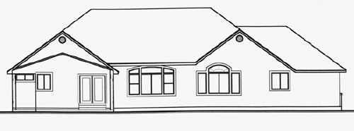 Traditional House Plan 70481 Rear Elevation