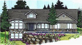 Traditional House Plan 70484 Elevation
