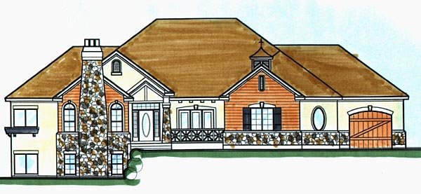 Craftsman House Plan 70486 Elevation