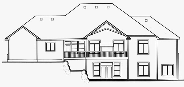 Craftsman House Plan 70486 Rear Elevation