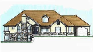 House Plan 70488 | Traditional Style Plan with 2245 Sq Ft, 3 Bedrooms, 3 Bathrooms, 3 Car Garage Elevation