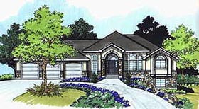 Traditional House Plan 70489 Elevation
