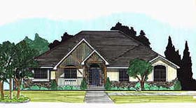 House Plan 70490 | Traditional Style Plan with 2255 Sq Ft, 3 Bedrooms, 2 Bathrooms, 3 Car Garage Elevation