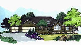 Traditional House Plan 70491 with 2 Beds, 2 Baths, 3 Car Garage Elevation