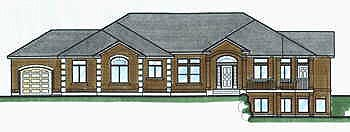 Contemporary House Plan 70492 Elevation