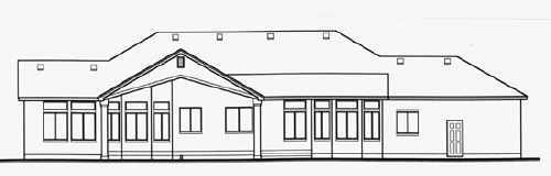 Contemporary House Plan 70492 Rear Elevation