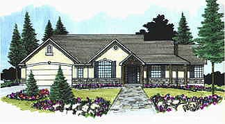 Traditional House Plan 70495 Elevation