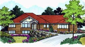 Traditional House Plan 70496 Elevation
