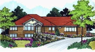 Traditional House Plan 70496 with 2 Beds, 2 Baths, 3 Car Garage Elevation