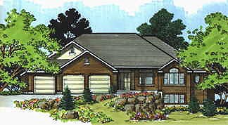 Traditional House Plan 70498 with 3 Beds, 3 Baths, 3 Car Garage Front Elevation