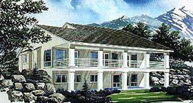Contemporary House Plan 70501 with 1 Beds, 2 Baths, 3 Car Garage Elevation