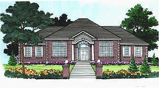Colonial House Plan 70508 with 2 Beds, 2 Baths, 3 Car Garage Elevation