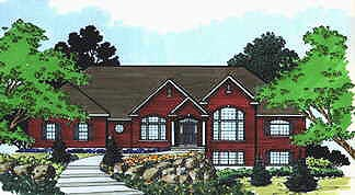 Colonial Elevation of Plan 70509
