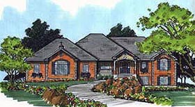 Traditional House Plan 70515 with 4 Beds, 5 Baths, 3 Car Garage Elevation