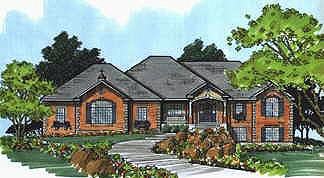 Traditional House Plan 70515 Elevation